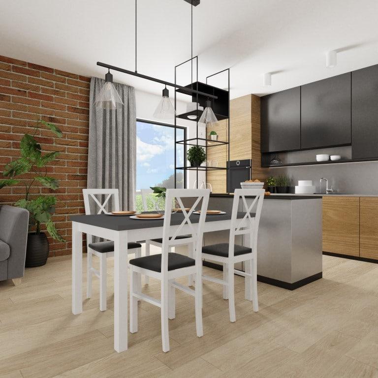 Stół Max 5 80120150 4 Krzesła Milano 4
